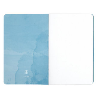 Blue Peace Sign Watercolor Pocket Journal