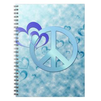 Blue Peace Spiral Notebooks