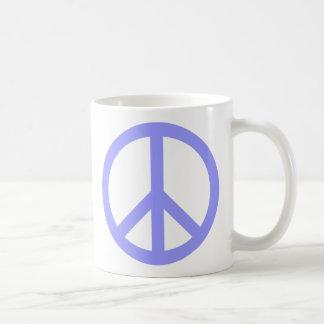 Blue Peace Symbol Basic White Mug