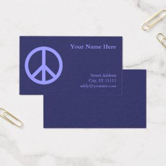 Blue Peace Symbol Business Card