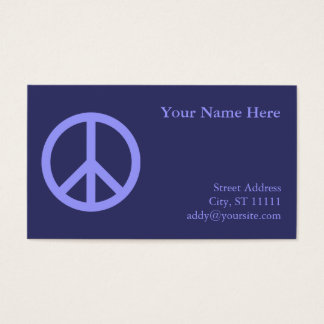 Blue Peace Symbol Business Card