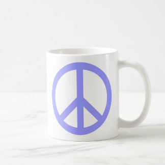 Blue Peace Symbol Coffee Mug