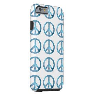 BLUE PEACE SYMBOLS iPhone 6 Case Tough iPhone 6 Case