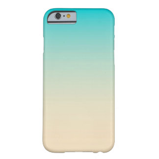 Blue Peach Ombre Barely There iPhone 6 Case