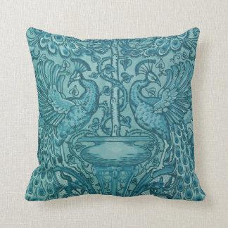 Blue Peacock American MoJo Pillows