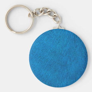 Blue peacock feathers key chain