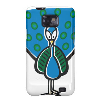 Blue Peacock Galaxy S2 Cover