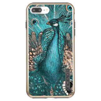 blue peacock incipio DualPro shine iPhone 8 plus/7 plus case