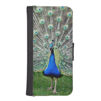 Blue Peacock iPhone SE/5/5s Wallet Case