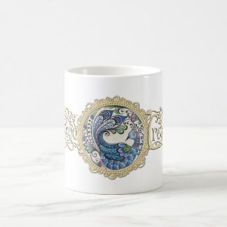 Blue Peacock Mug 11oz