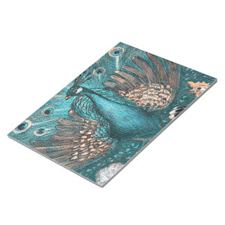 blue peacock notepad
