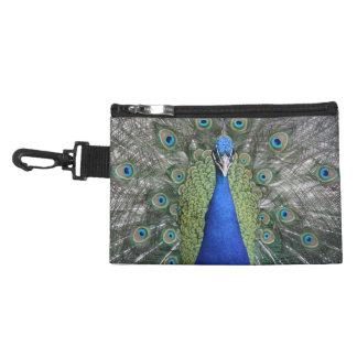Blue Peacock Portrait Accessory Bag