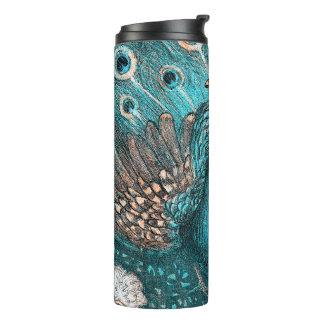 blue peacock thermal tumbler
