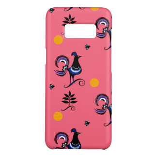 Blue Peacocks on Pink Case-Mate Samsung Galaxy S8 Case