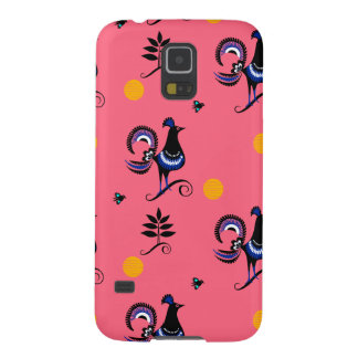 Blue Peacocks on Pink Cases For Galaxy S5