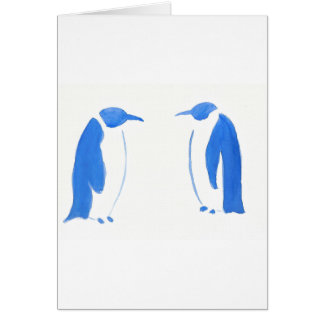 Blue Penguin Duo Card