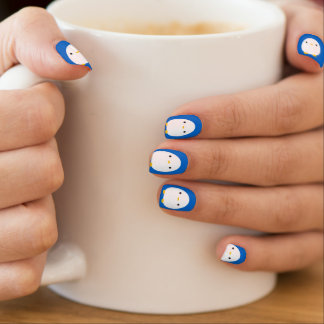 Blue Penguin Minx Nail Art