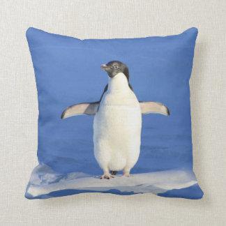 Blue Penguin Sea Iceberg Cushion -
