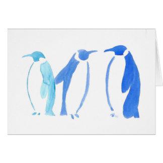 Blue Penguin Trio Card