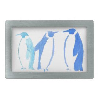 Blue Penguin Trio Rectangular Belt Buckle