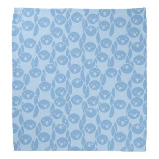 Blue penguins pattern background bandana