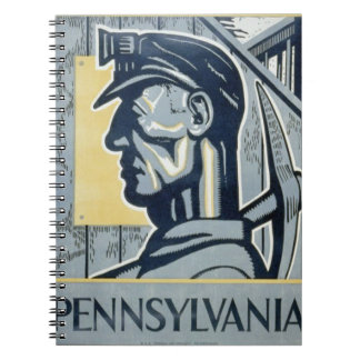 Blue Pennsylvanian Coal Miner Notebook