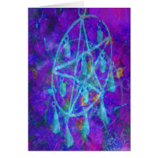 Blue Pentacle Royale Card
