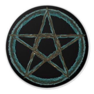 Blue Pentagram Custom Ceramic Knob