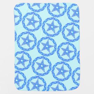 Blue Pentagram Pagan Wicca Mystic Baby Blankie Stroller Blankets