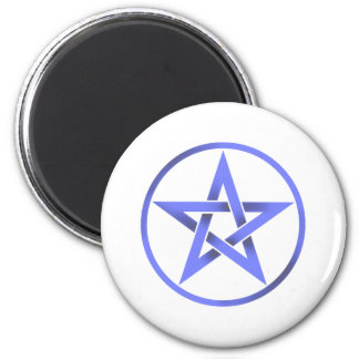 Blue Pentagram Pentacle Magnet