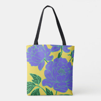 Blue Peonies Tote Bag
