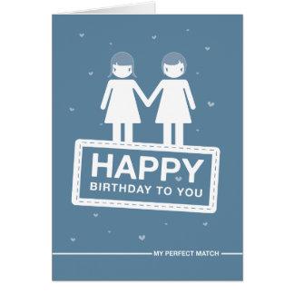 Blue | Perfect Match | Happy Birthday Card