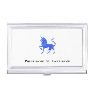 Blue (Periwinkle) Unicorn Business Card Holder