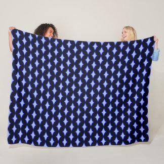 Blue Persian Prince Diamond Plush Pattern Fleece Blanket