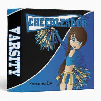 Blue Personalize Diva Cheerleader 3 Ring Binders