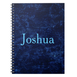 Blue Personalize Notebooks