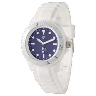blue personalized modern sports watch