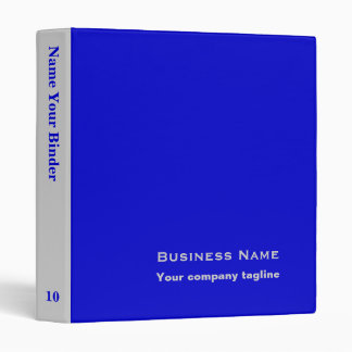 Blue - Personalized Office Binders