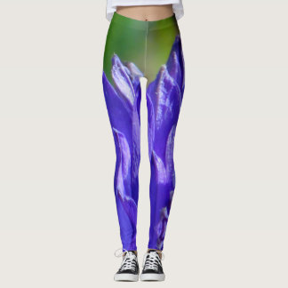 Blue petal flames leggings