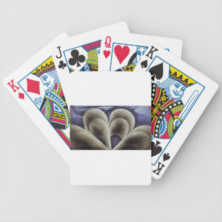 Blue petals bicycle playing cards