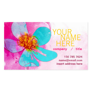 Blue Petals Profile Card Pack Of Standard Business Cards