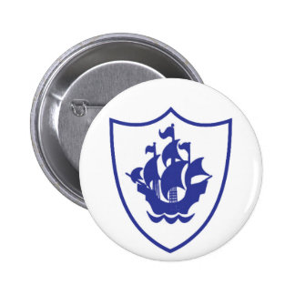 Blue Peter Shield Badge 2 Inch Round Button