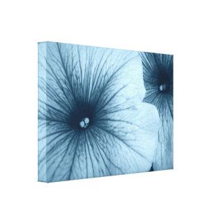Blue Petunias Canvas Print