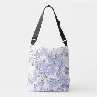 Blue Petunias Crossbody Bag