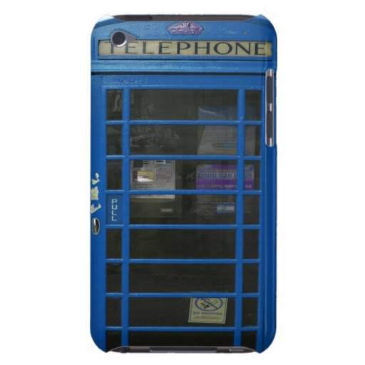 blue phone booth iPod touch case