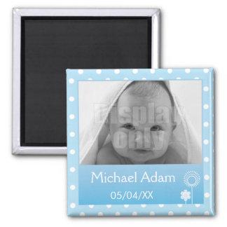 Blue photo magnet
