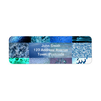Blue Photography Collage Return Address Label