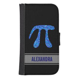 Blue Pi Symbol Math Geek Nerd Fun Custom Phone Wallet Case