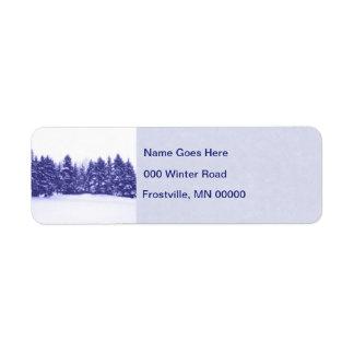Blue Pine Line Return Address Label