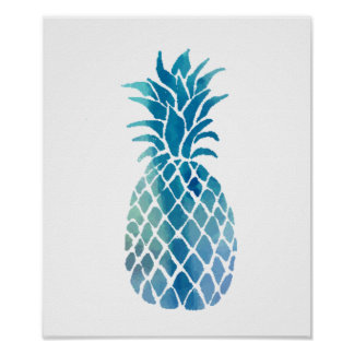blue pineapple poster